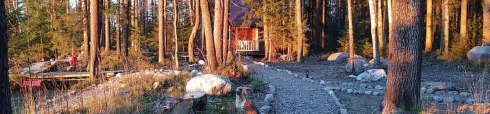 Дом у озера терасса
